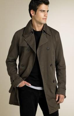 Men's short trench