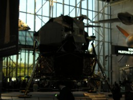 A mock up of the lunar module at the National Air & Space Museum in Washington, DC.
