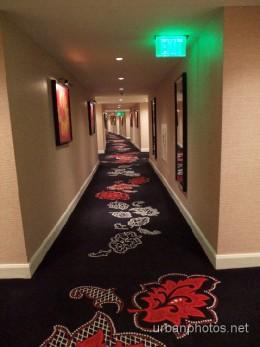 Hallway on the 62nd floor in Encore