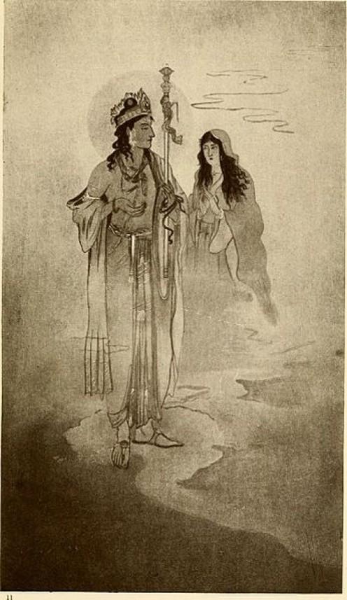 Yama and Savitri by Nandlal Bose 1913