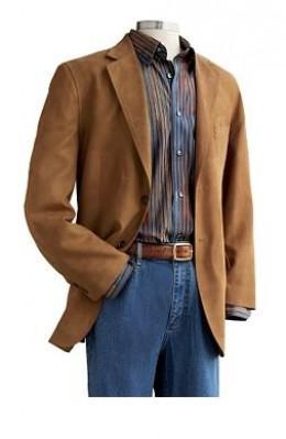 Mens Suede Sport Coat Blazer | Down Coat
