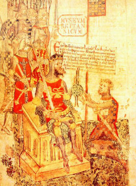 Alan 'Rufus' swears fealty to his cousin, King William I of England
