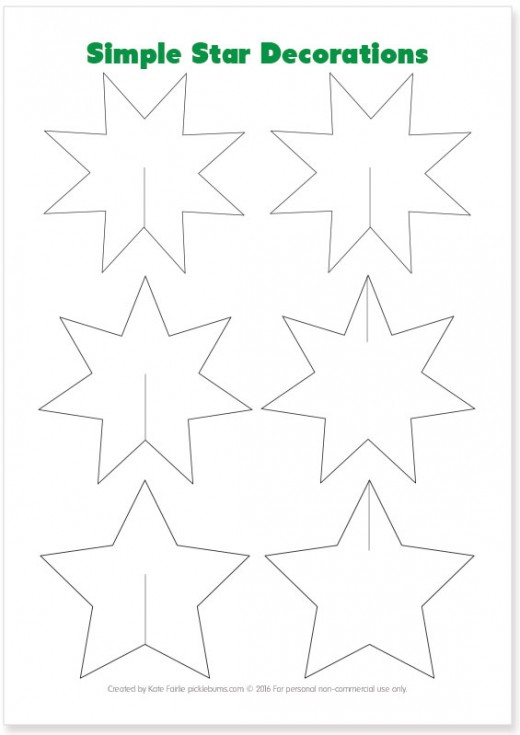 Print out some beautiful Christmas Star ornaments