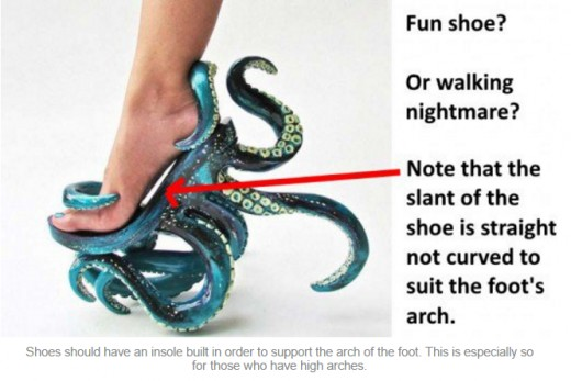 Just because it's a designer shoe doesn't mean that it has been built to accommodate your foot. Check for arch support!