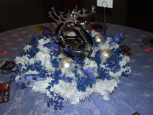 A Blue Reindeer Christmas Table