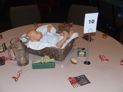 A Baby Gift Christmas Table