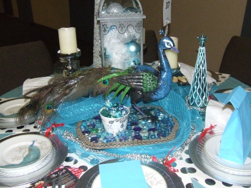 The Blue Peacock Christmas Table