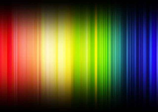 The color spectrum starts with a rainbow of colors. Other hues are created by mixing various colors.