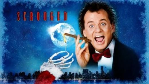 1988 Scrooged Starring:  Bill Murray, Karen Allen,  John Forsythe, John Glover
