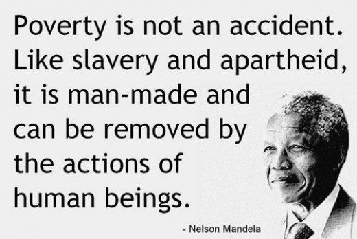 Nelson Mandela's quote on poverty