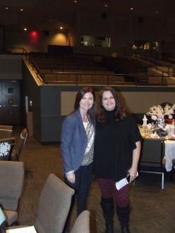 Inspirational Speakers Katrina Moore And Kim Corder At The Annual Christmas Event  in Glendale Arizona.