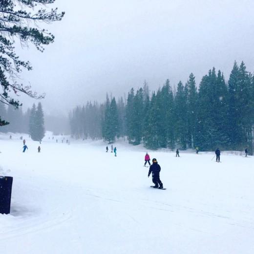 Winter spirits haunt the peaks in Breckenridge.