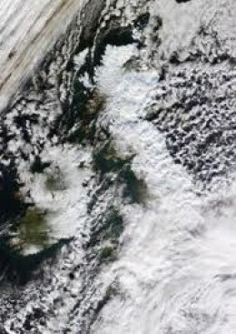 The cold front edged down from the Arctic, suppressed the Gulf Stream Drift around the western coasts of the British Isles, bringing extensive snowfalls pushed by gales before freezing overnight under clear skies... Snow clearing became hard graft