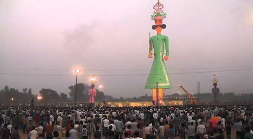 Tallest Ravana in BARARA,  near Chandigarh in Ambala