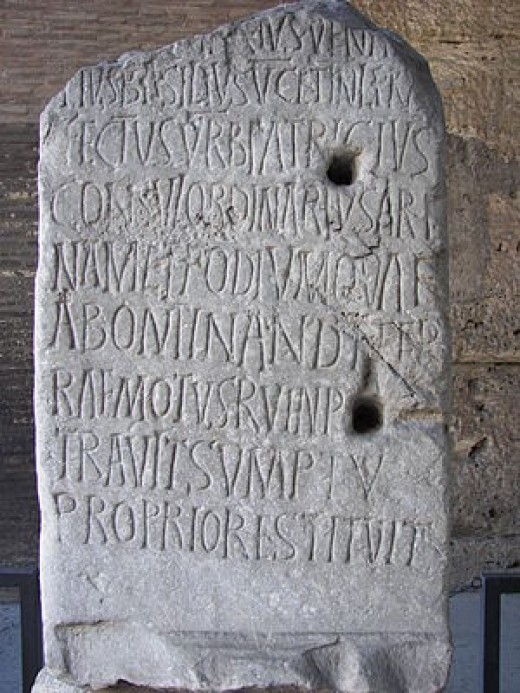 Latin Inscription in the Colosseum