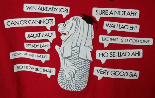 Some common Singlish phrases.