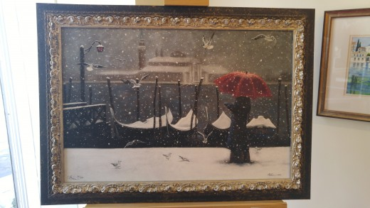 This was the painting created by Liz Hess in Venice.