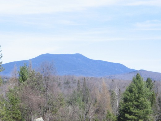 Looking at the High Peaks in the Adirondacks from the south.