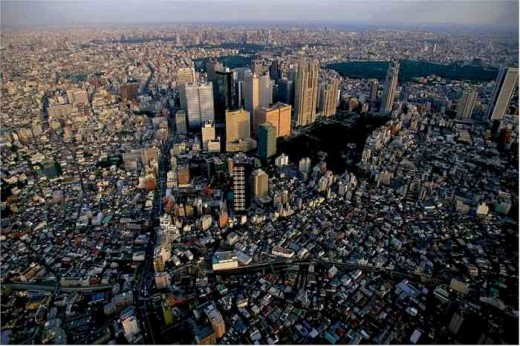 Tokyo, Japan, the largest city in the world