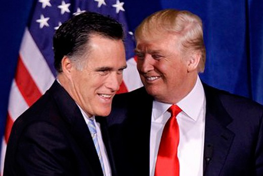 Trump and Mitt Romney seemed to hit it off during recent meetings.