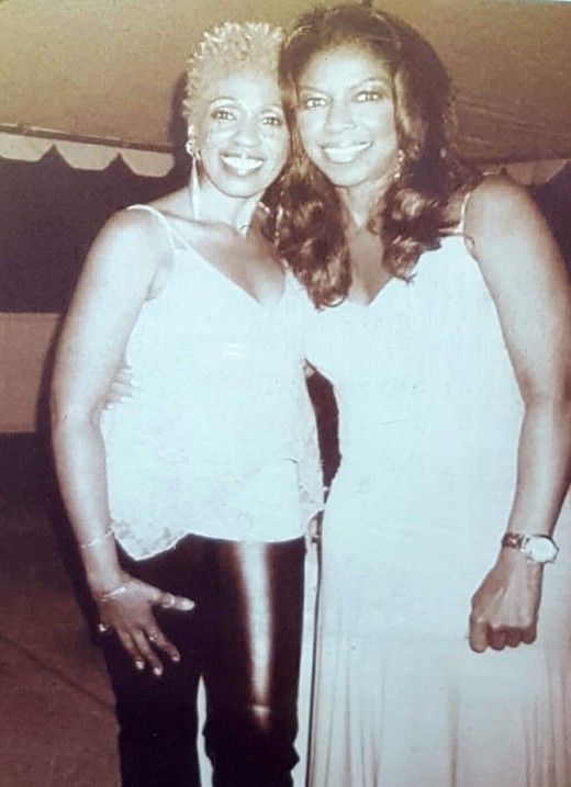 Aziza and Natalie backstage in California at The Hollywood Bowl after performing La Costa together for Natalie's show.