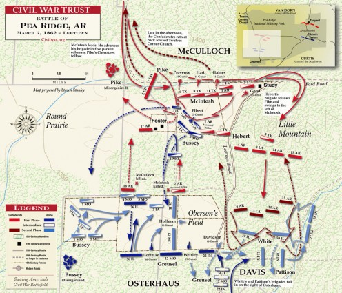 Battle of Leetown where the Confederate forces lose their to best leaders.
