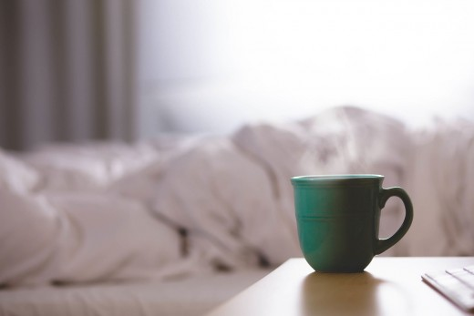 Rise and shine! Some folks need a good cup of coffee before they are ready to put on a happy face in the morning.