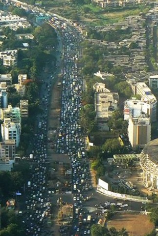Rush hour in Mumbai