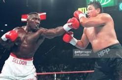 "Bruce Seldon, left, used a terrific jab to score a TKO victory over a very brave ""Boss"" Joe Hipp."