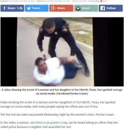 Police Racist Video and Learning in Fort Worth Texas