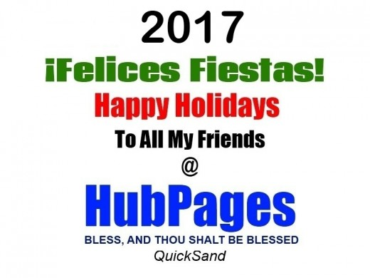 Happy Holidays - Christmas Cheers And Best Wishes For A Bright And Prosperous New Year 2017! - Prospero Año Felicidad! - Feliz Navidad - To Your Dad ... And Mum As Well!