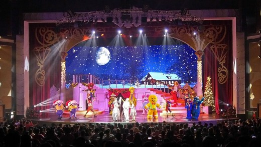 Christmas musical finale at Universal Studios Singapore.