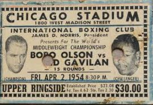 Bobo Olson took on any and all challengers including Hall of Famer and former Welterweight champion Kid Gavilan.
