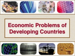 What is the major economic problem, an average developing country is facing?