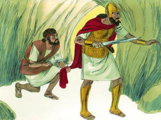 David didn't kill Saul