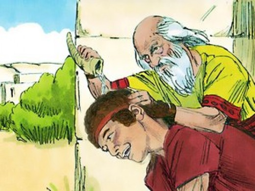 Samuel, in obedience to God, anoints David as the next king.