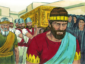 After David's death, Solomon, his son, was crown king.