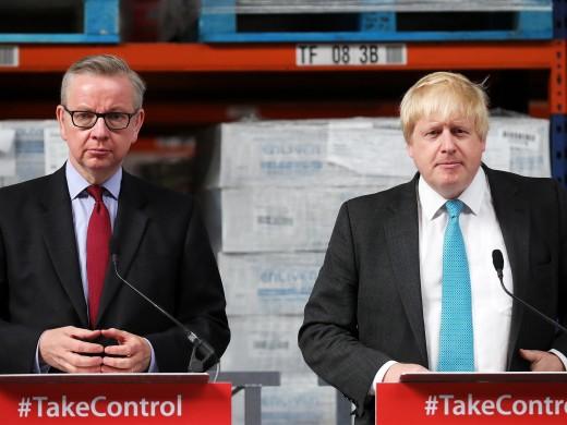 Michael Gove (Left) & Boris Johnson (Right) - Leave Campaign