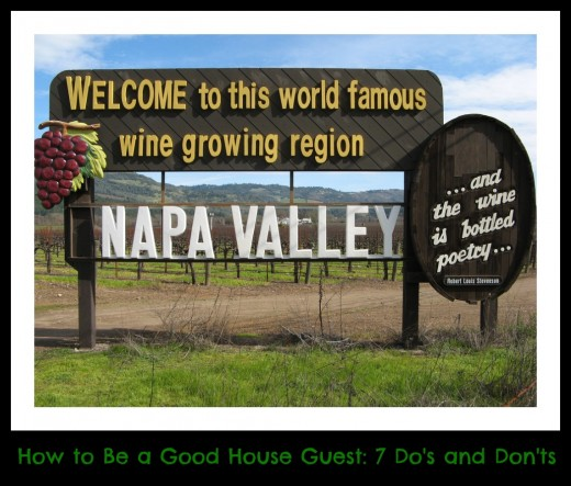 I loved having visitors when we lived in Napa. Because I had two little boys, I needed guests who were self-sufficient.