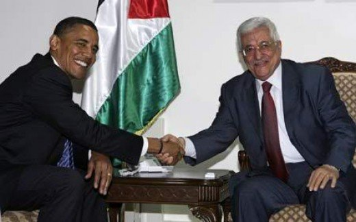 Obama and Palestinian Authority leader Mahmoud Abbas