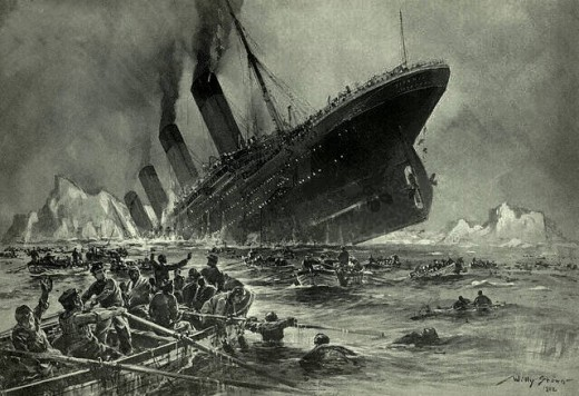 Engraving of the Titanic by Willy Stöwer.