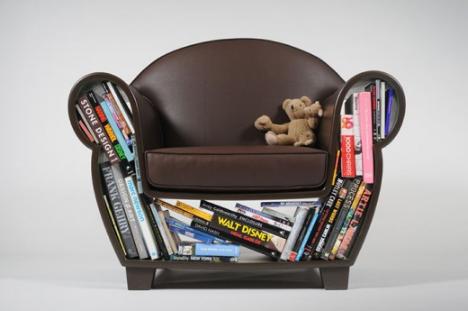 Armchair bookcase