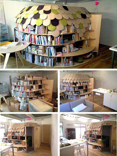 Book fortress bookcase