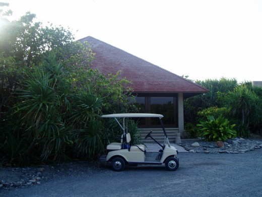One of the golf cars available to the guests