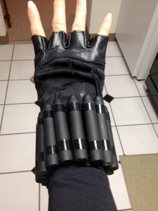 Plastic Bullets and Duct Tape = Black Widow's Bullet Cuff Bracelets