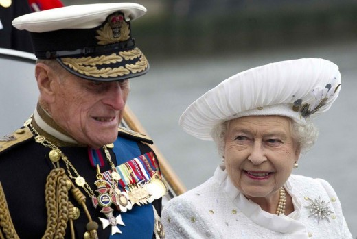 Queen Elizabeth II and husband Prince Phillip