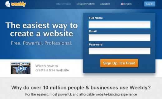 Easiest way to create a free website, blog