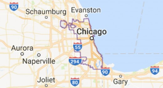 The Windy City and surroundings.