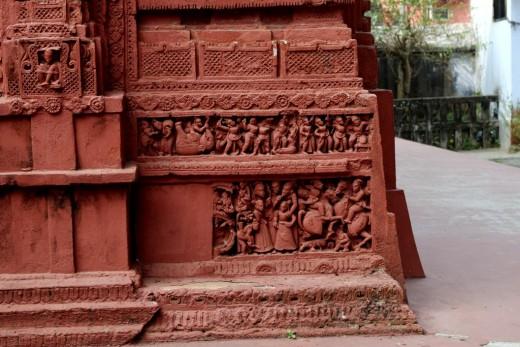 Right base panels : Nandadulal Jiu temple, Gurap