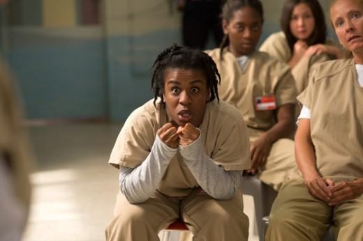 Suzanne 'Crazy Eyes' in the drama.